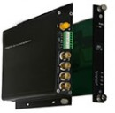 FC1-40010-xxST-1 & FC1-40010-xxRT-1 10-bit Digital 4 Video 1 Bi-directional Contact Closure Standalone & Rack Mount Converters