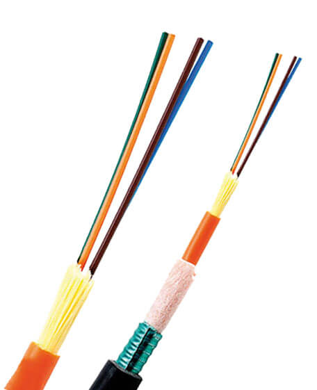 Non armoured and armoured tight buffered fiber optic cables
