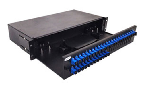 Photo of 2U fiber patch panel