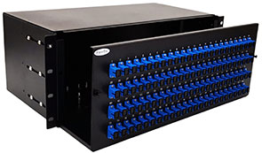 Photo of 4U fiber patch panel