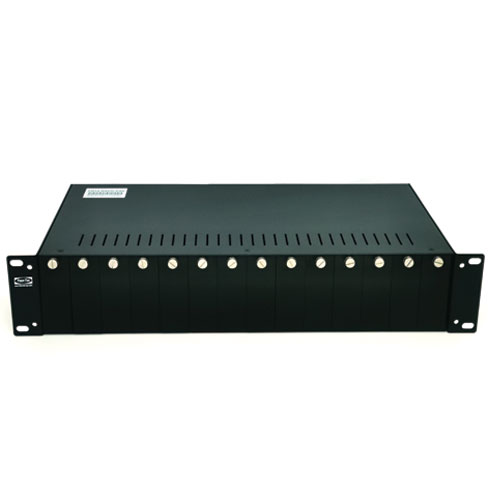 Chassis with 14 slots for Ethernet Media Converters