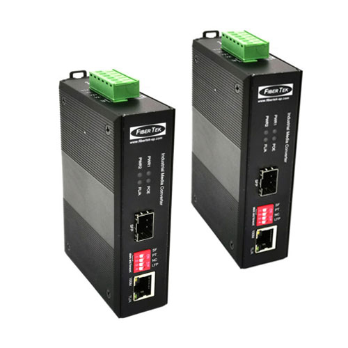Industrial Fast Ethernet POE Converters