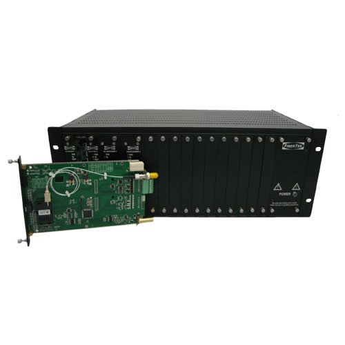 Video converter chassis for rack-mounted video converters