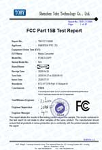 FCNCS-2SFP FCC Test Certification