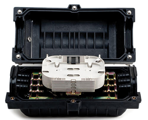 Picture of fiber optic inline enclosure