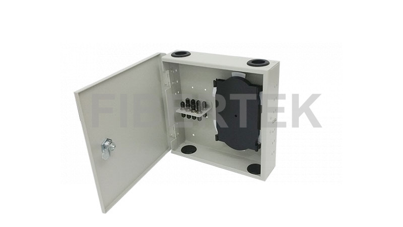 FTBT08 Series Indoor Wall Mount Fiber Patch Panel with ST adapters