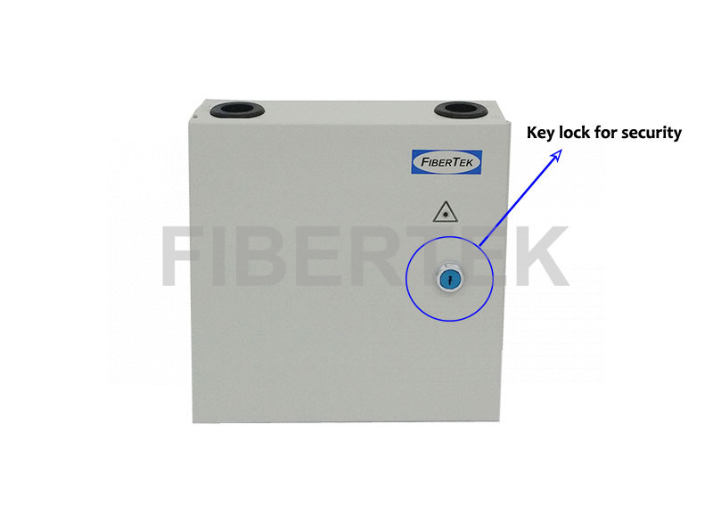 FTBT08 Series Indoor Wall Mount Fiber Patch Panel with key access