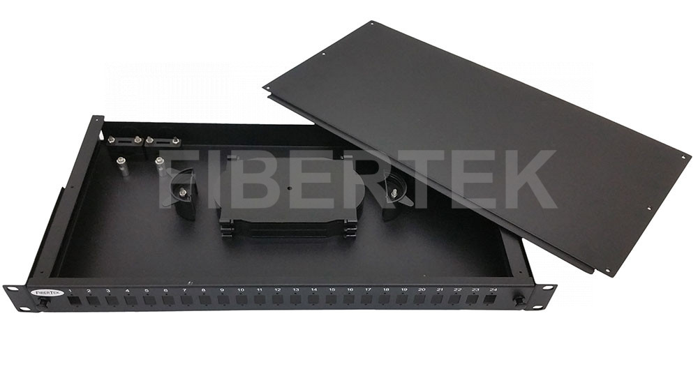 FPP124 Rack Mount Fiber Patch Panel with top removable cover