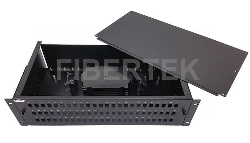 FPP372 Series Rack Mount Fiber Patch Panel with top cover removed