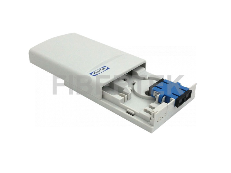 Mini Wall Mount Fiber Patch Panel with SC Duplex Adapter