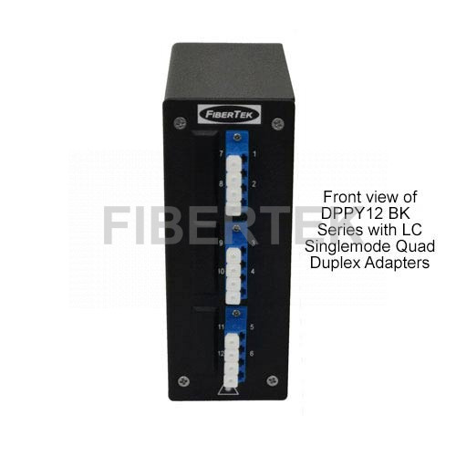 Din Rail Fiber Patch Panel Front View DPPY12 BK Series