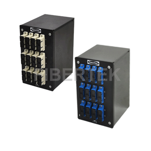 Din Rail Fiber Patch Panel DPPY24 BK Series SC Singlemode and Multimode Adapters