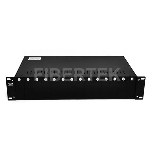 Front Panel of Fiber Media Converter Chassis