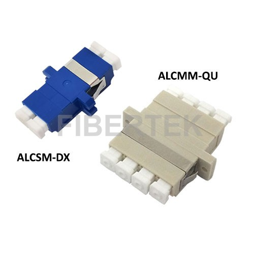 LC fiber optic adapters - Duplex and Quad Duplex
