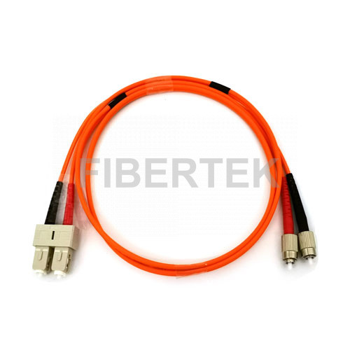 Duplex Fiber Optic Patch Cord SC to FC Multimode